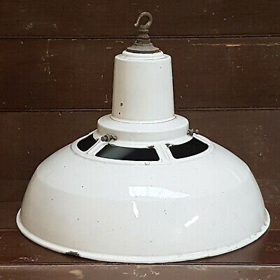 Large 1950s Enamel Lamp Shade