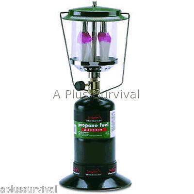 Light Double Mantle Propane Lantern (Texsport Propane Dual Mantle Camping Lantern Light )