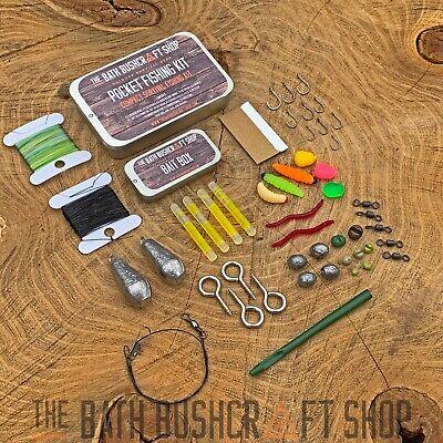 Ultra Compacto Supervivencia Emergencia Kit de Pesca Camping Bushcraft Edc