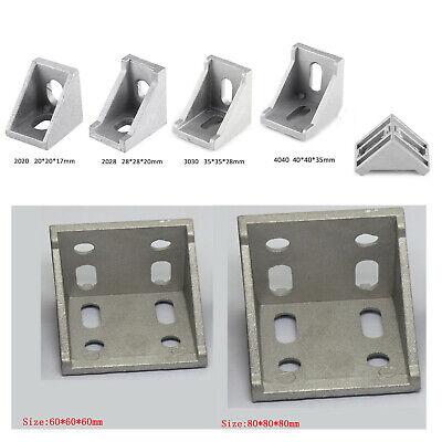 For 20-80 Aluminum Right Brace Corner L Shape T Slot Angle Bracket Profile Slc