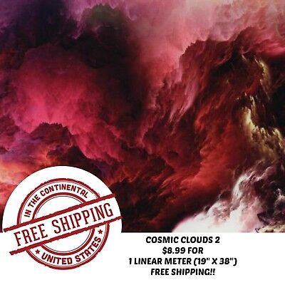 Hydro Dipping Water Transfer Hydrographic Film Cosmic Clouds 2 1m