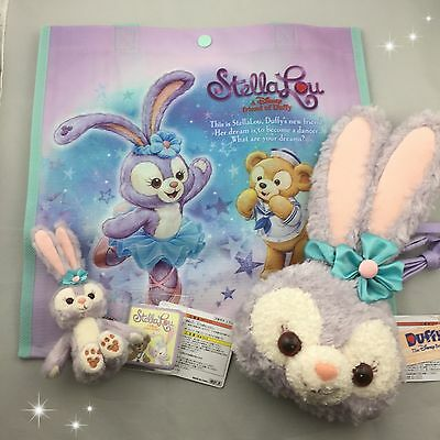 Lot 3 Stella Lou set Tokyo Disney Sea Limited with Plastic Bag Duffy friends F/S
