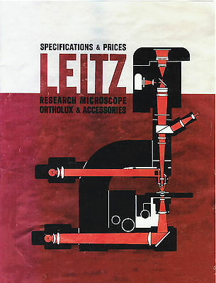 Leitz Ortholux Microscope Accessories Specifications Prices 1963 Cd-l0159