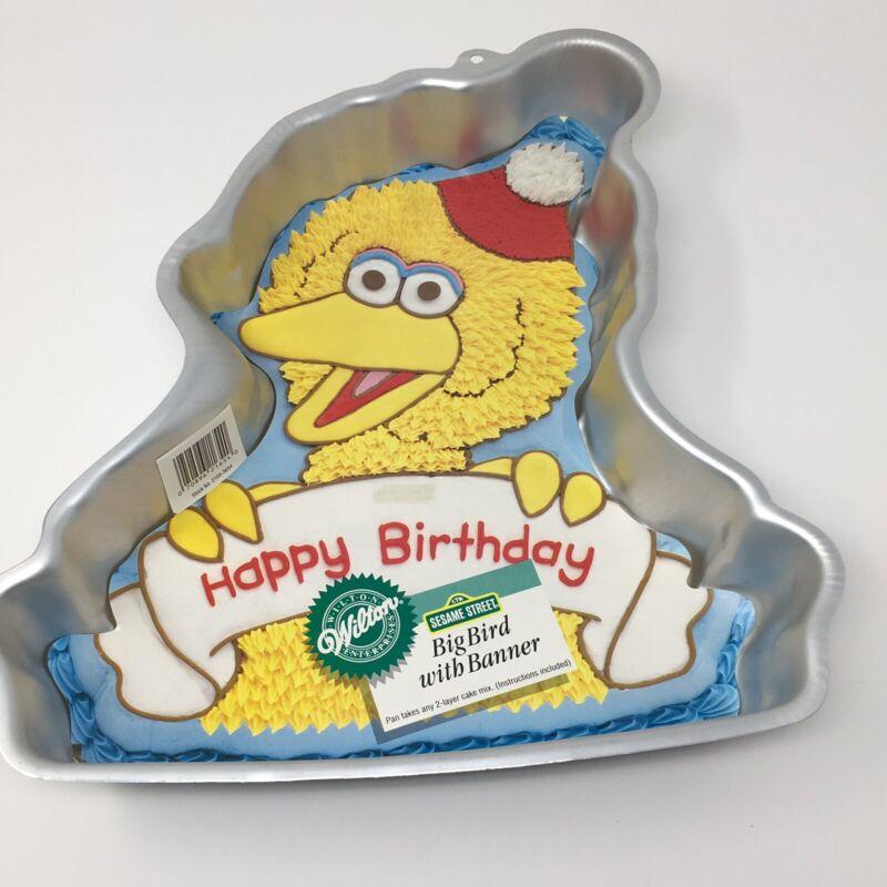 Wilton Sesame Street Happy Birthday Big Bird Cake Pan - 1988 with Insert