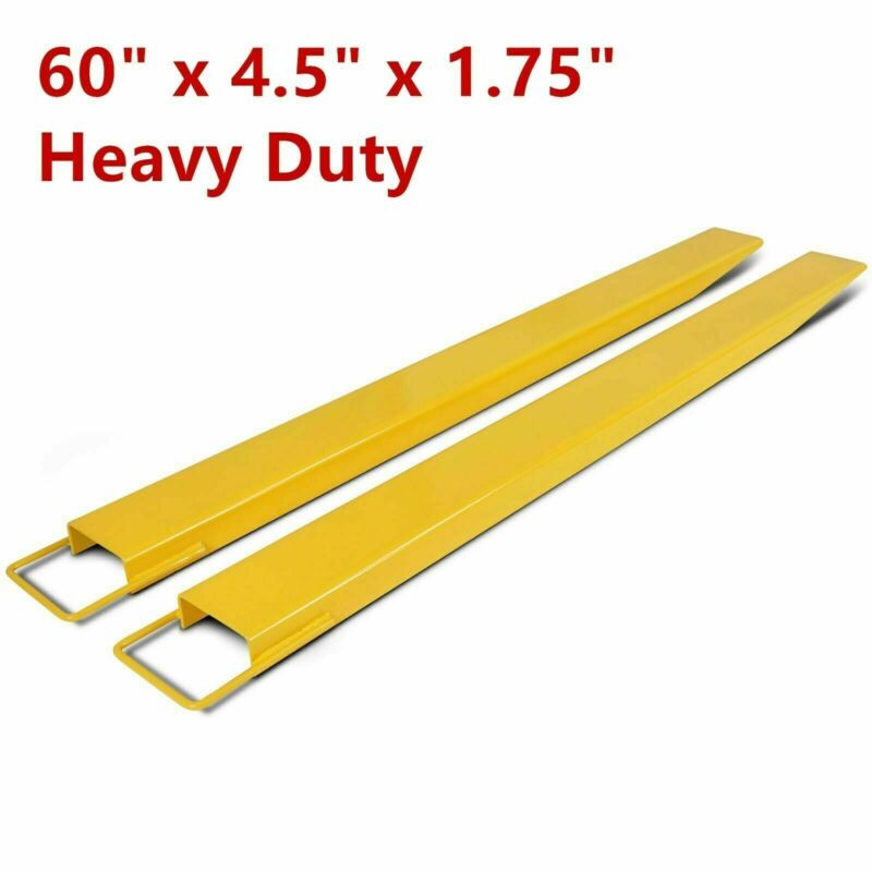 """New 60"""" x 4.5"""" Heavy Duty Steel Pallet Fork Extensions for Forklifts Lift Truck"""