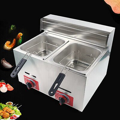 Commercial Countertop Gas Fryer 2 Baskets Deep Fryer Propanelpg 10l2 Usa