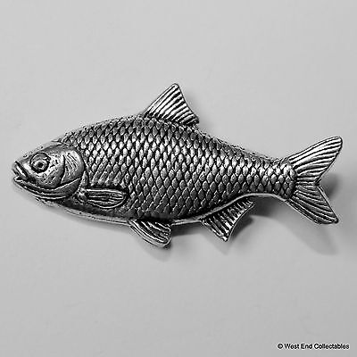 Roach Pewter Pin Brooch -British Handcrafted- Coarse Fishing Angling Gift