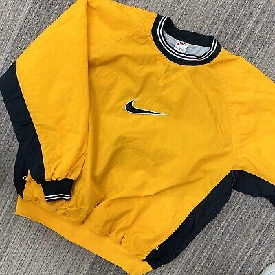 Vintage Nike Nylon Mustard Pullover Size Large Windbreaker