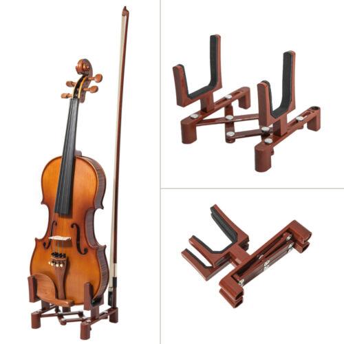 High Quality New Lightweight Adjustable Violin Viola Stand Burgundy Color