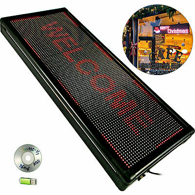 Led Sign Led Scrolling Sign 40 X 15 Red Open Signs For Business
