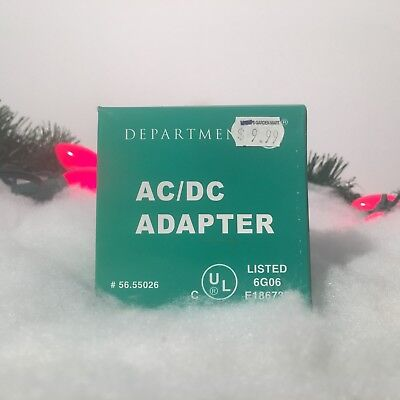NEW DEPARTMENT 56 AC/DC ADAPTER #56.55026 FOR VILLAGE COLLECTION PIECES