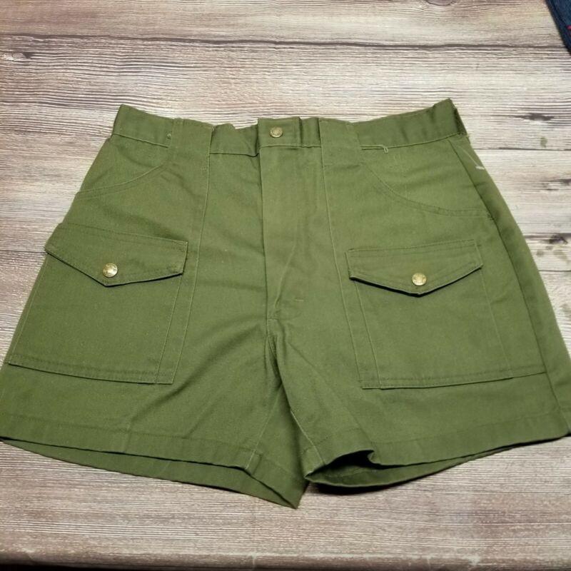 Vintage Boy Scouts Olive Green Official Uniform Cargo Shorts