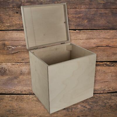 Grande Alto Manualidades Caja Madera con Tapa Regalo Recuerdo Cajita Almacenaje