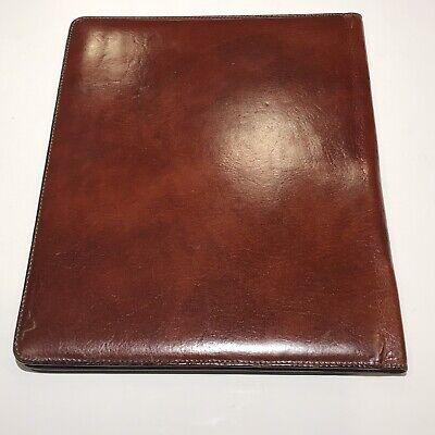 Bosca Leather Note Pad Folio Cover Letter