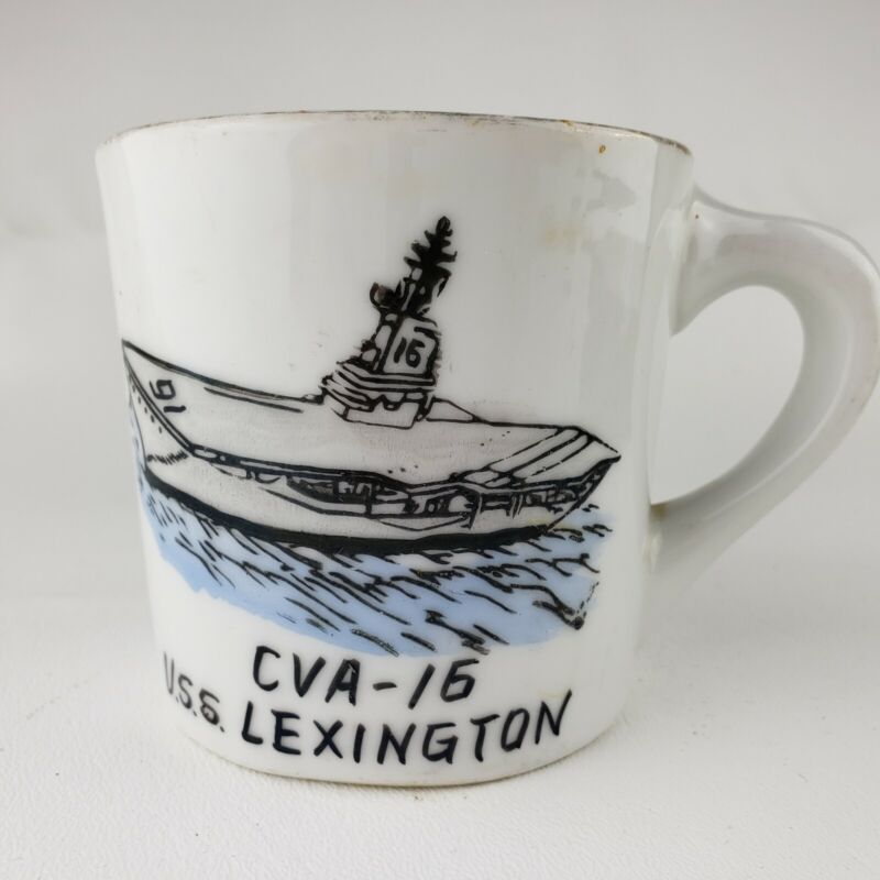 USS LEXINGTON  CVA-16  1959 Coffee Mug Cup Personal