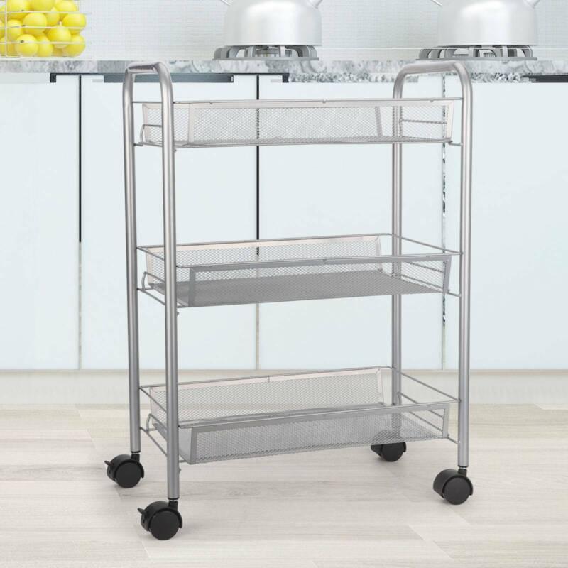 Küchenwagen Rollwagen Servierwagen Küchentrolley Beistellwagen 3 Etagen
