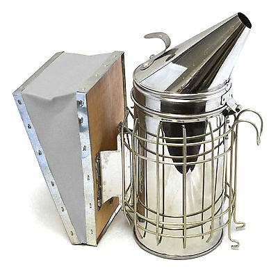 Bee-hive-smoker-stainless-steel-with-heat-shield-calming-beekeeping-equipment