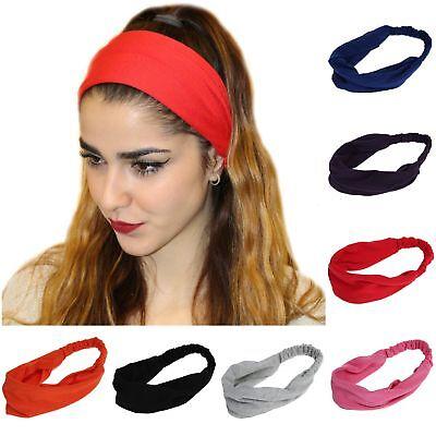 Haarband Stirnband Kopfschmuck Yoga Schweißband Elastisch Mode Damen Neu