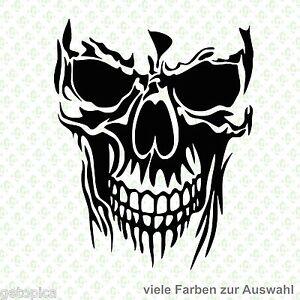 Skull Aufkleber Totenkopf Schädel Sticker Halloween Punisher Autoaufkleber 2344