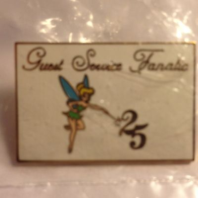 DISNEY CAST TINKER BELL GUEST SERVICE FANATIC 25 WDW PIN NEW SEALED in PLASTIC