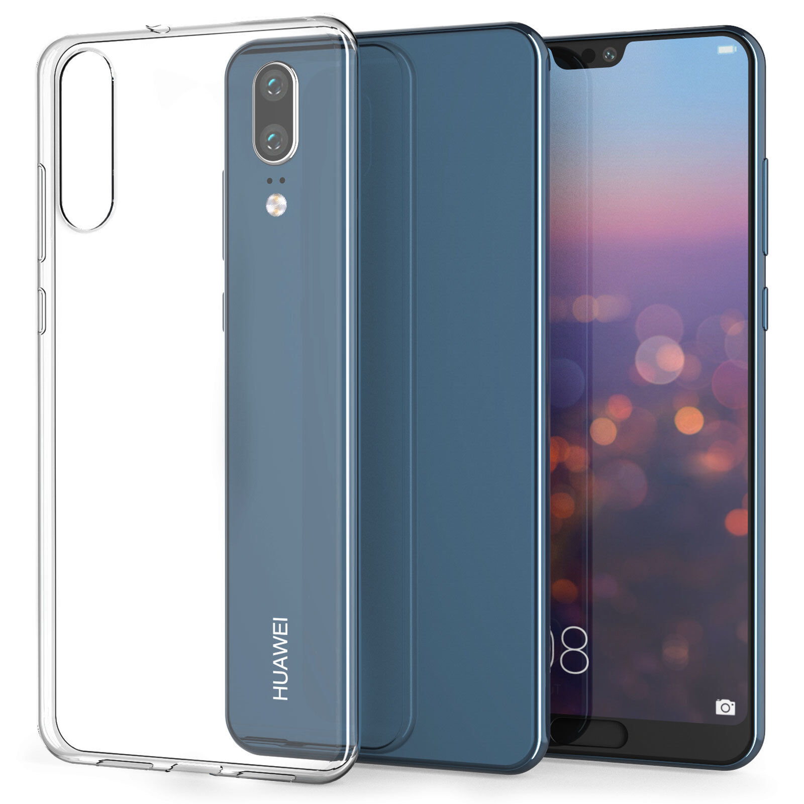 Details about For Huawei P20/P20 Pro Case, Crystal Clear Transparent  Silicone Gel Phone Cover