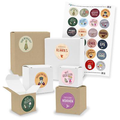e Geschenkboxen mit Sticker Weihnachten Mix Saarland (Klein Weihnachten Geschenk-boxen)