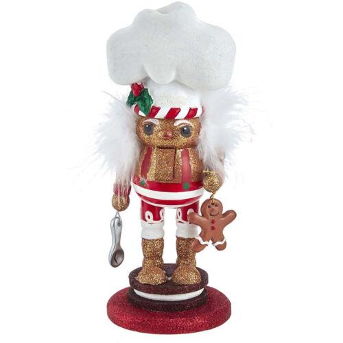 Kurt Adler Hollywood Glitter Gingerbread Man Baker Christmas Nutcracker Decor