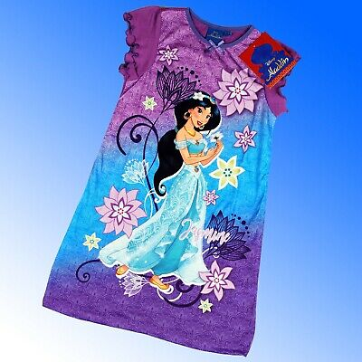 Girls Official Disney Aladdin™ Jasmin Nightdress Nightshirt Nighty 2-8 Years