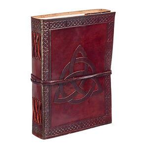 Fair Trade Handmade Celtic Trinity Knot Leather Journal Notebook Diary