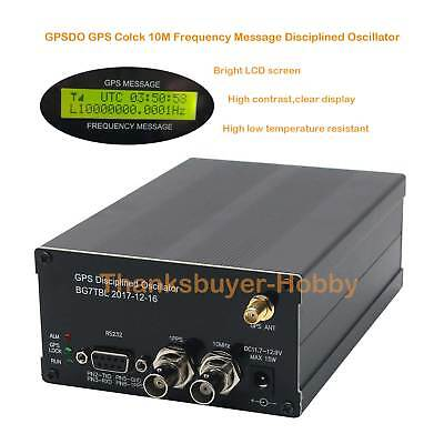 10m Gpsdo Gps Clock Lcd-gps Disciplined Oscillator With Lcd Display Frequency