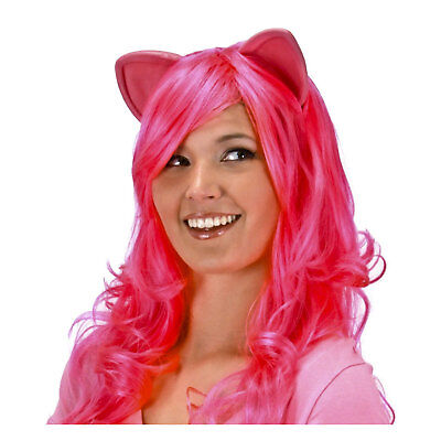Adult Teen Kids My Little Pony Pinkie Pie Wig Halloween Costume Wig Headband