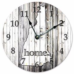 NEW HAMPSHIRE RUSTIC HOME STATE CLOCK - Large 10.5 Wall Clock - 2238