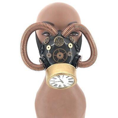 Clock Halloween Costume (Respirator gas mask Halloween party Costume Cosplay Steampunk Dress up)