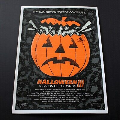 Mondo Halloween 3 Season of the Witch screenprinted movie poster Alan Hynes - Alan Halloween
