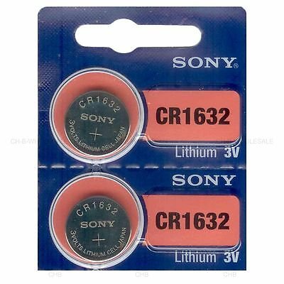 2 NEW SONY CR1632 3V Lithium Coin Battery Expire 2026 FRESHLY NEW - USA Seller