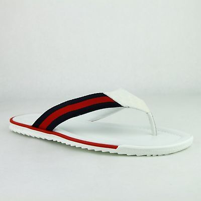 02e388632 Gucci Men s White Guccissima Leather Sandals with BRB Web 268670 9051