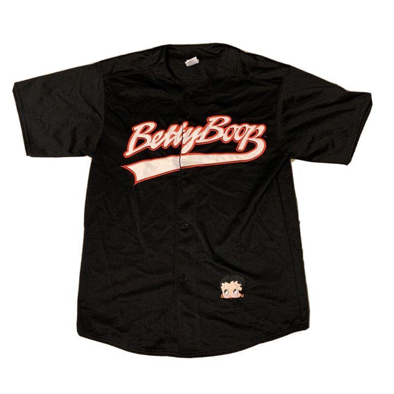 Vintage Betty Boop Baseball Jersey Shirt Medium Great Quality Cartoon