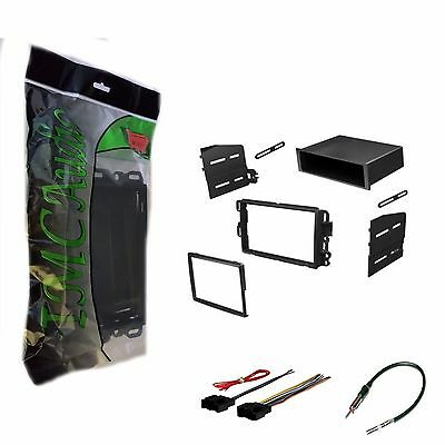 Single Din Dash Kit Stereo Radio Installation Install Kit w Wire Harness Antenna