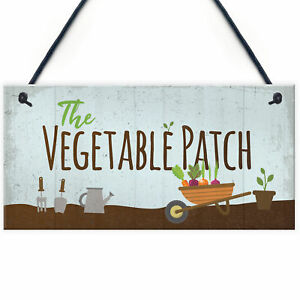 Vegetable Patch Vegetable Garden Shed Sign Grandad Grandma Gardening Gift
