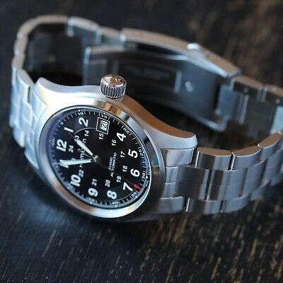 Hamilton Khaki Field Automatic 38mm - H70455133 upgraded crystal EXCELLENT!