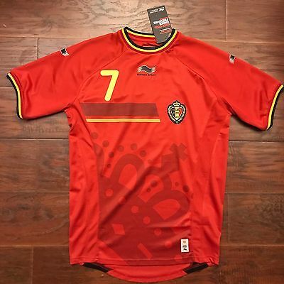 2014/15 Belgium Home Jersey #7 De Bruyne Large Camiseta Football SocceR NEW image