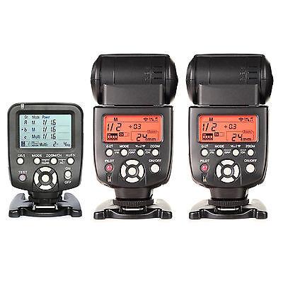 YN560TX Wireless Flash Controller + 2pcs Yongnuo YN-560 IV Flash Kit For Nikon, used for sale  Shipping to Nigeria