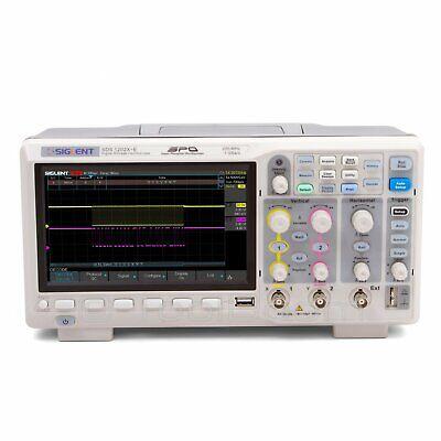 Siglent Sds1202x-e Super Phosphor Oscilloscope Spo 200 Mhz 1 Gsas 14 Mpts