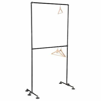 Freestanding Double Hung Clothing Rack By Pipe Decor