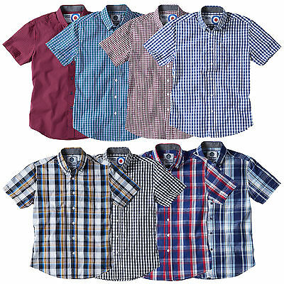 Men's Cotton Gingham Check Shirt by Charles Wilson
