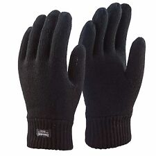 Mens Thermal Thinsulate Gloves Extreme Winter Weather Knitted Full Finger Cold