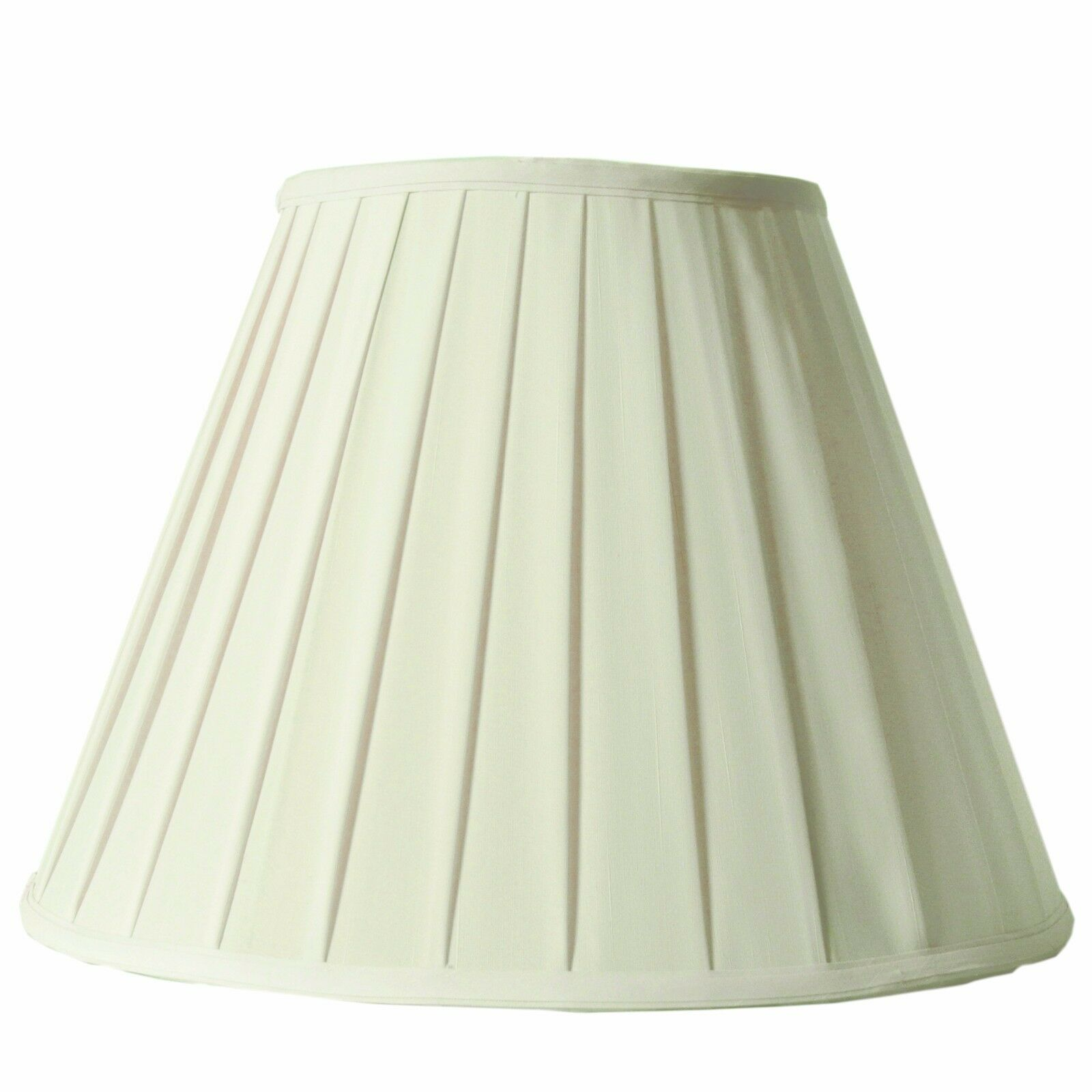 Hand Made Cream Round Box Pleat Lamp Shade for Table Lamp 8x
