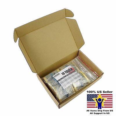 50value 1000pcs 14w Metal Film Resistor Assortment Kit Us Seller Kitb0025