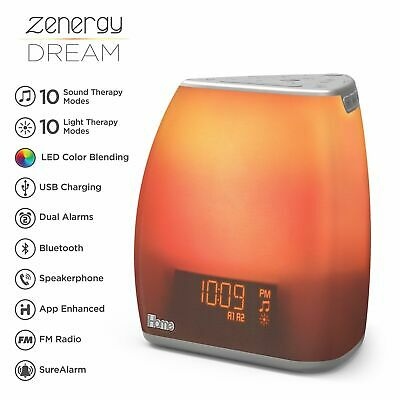 iHome Zenergy Bedside Sleep Therapy Machine Sleep Better & Longer Zen Light