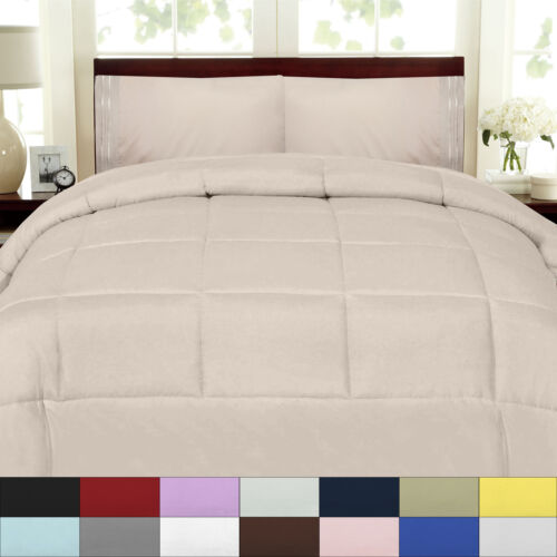 Box Stitch 100% Polyester Down Alternative Comforter Bedding